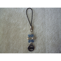 Blue Silver Diabetic Mobile Phone Charm