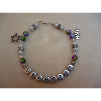 Rainbow Silver Star Hope Diabetic Charm Bracelet