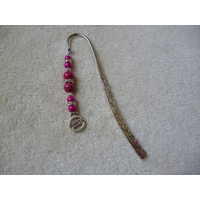 Silver Pink Sparkle Diabetic Charm Bookmark