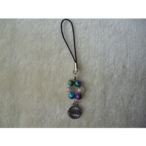 Rainbow Silver Diabetic Mobile Phone Charm