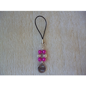 Hot Pink Diabetic Mobile Phone Charm