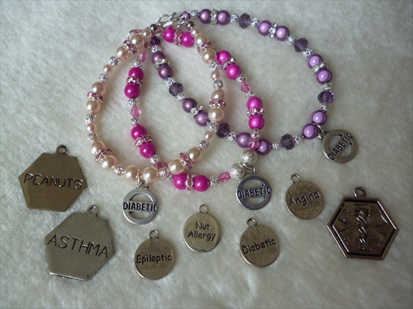 A Bespoke Ladies or Girls Bracelet Diabetic Epileptic Allergy