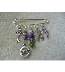 Rainbow Silver Diabetic Kilt Pin Brooch