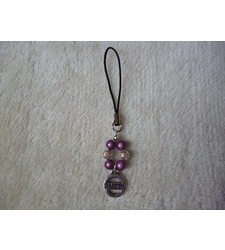 Purple Silver Diabetic Mobile Phone Charm