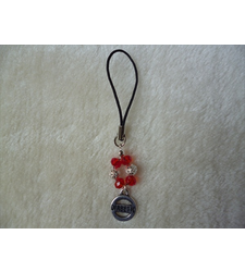 Red Silver Diabetic Mobile Phone Charm