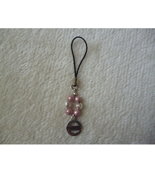 Pink Silver Diabetic Mobile Phone Charm